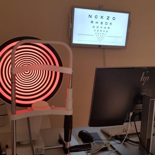 Disco di placido annesso alla mappatura corneale computerizzata